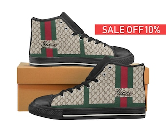 buy online cdb8c 2c01d Gucci High Top, Gucci Shoes, Gucci Sneakers, Custom Shoes, Custom Sneakers,  Gucci Hi Top, Gucci, Gucci Men Women Kid Shoes, Handmade Shoes