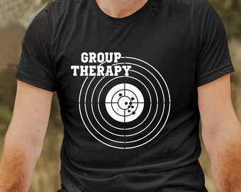 f33b95e7e8 Group Therapy Shooting T Shirt Men T Shirt Men Tee Black T Shirt