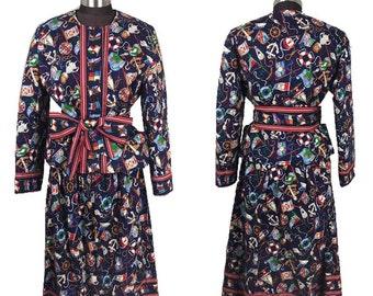 395e39a83b EUC Vintage RARE Vera Bradley Indiana REGATTA Complete Skirt Set Blazer  Nautical Blazer Medium