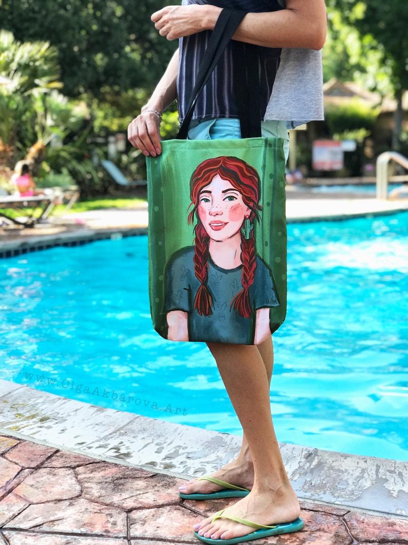 Cactus Girl Canvas Tote Bag