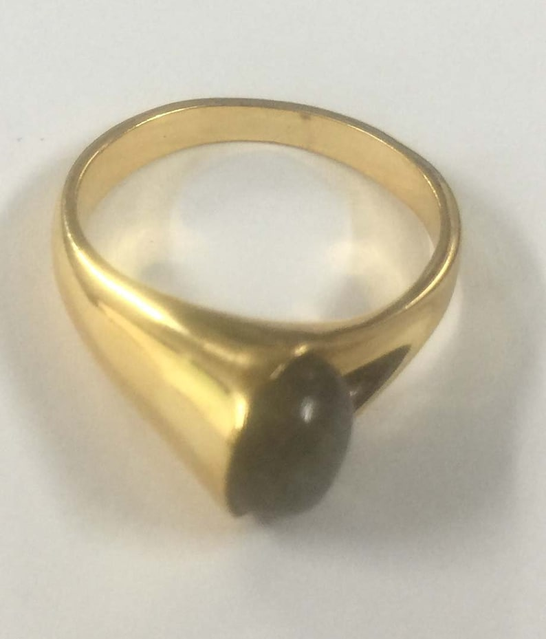 Labradorite Round Cabochon Horn Style Handmade 925 Sterling Silver 18 crt Gold Plated Ring,Labradorite Ring,Cabochon Round Ring Silver