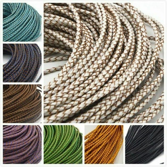 5M Flat Real Genuine Leather Rope Cord Strap Cowhide Bracelet Necklace DIY Craft