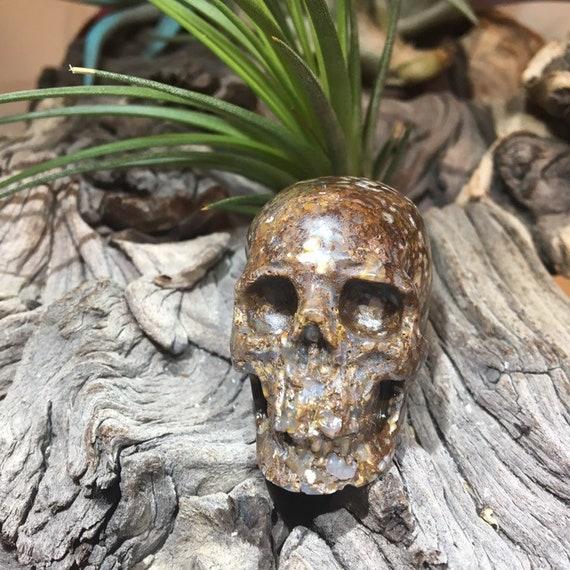Opalite Crystal Skull  Healing Skull Hand carving Skull