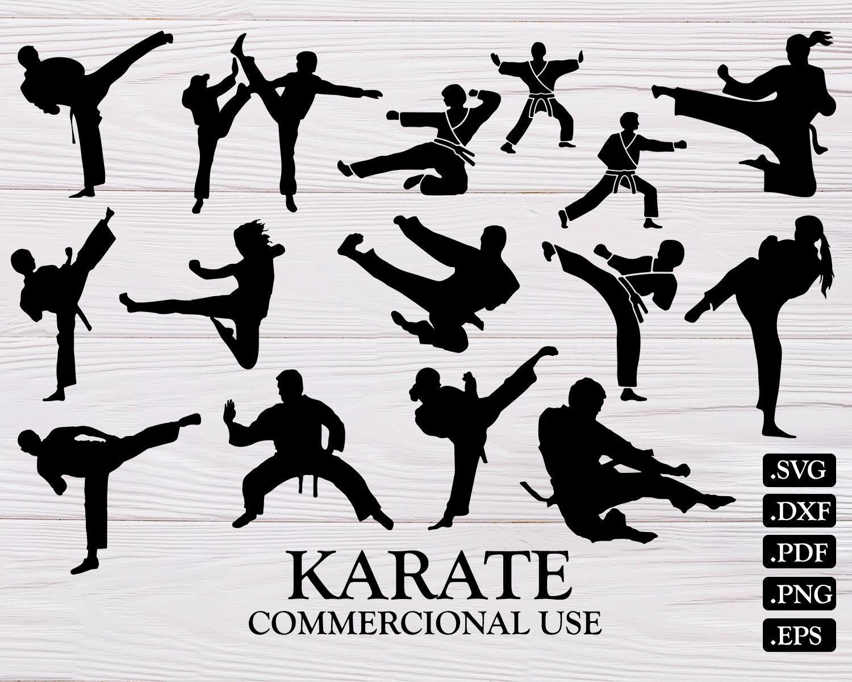 Karate Svg Svg Martial Arts Svg Karate Karate Cut File Etsy