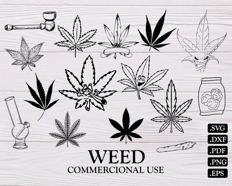 Weed Svgweed Clipart Marijuana Svg Cannabis Svg Stoner Etsy