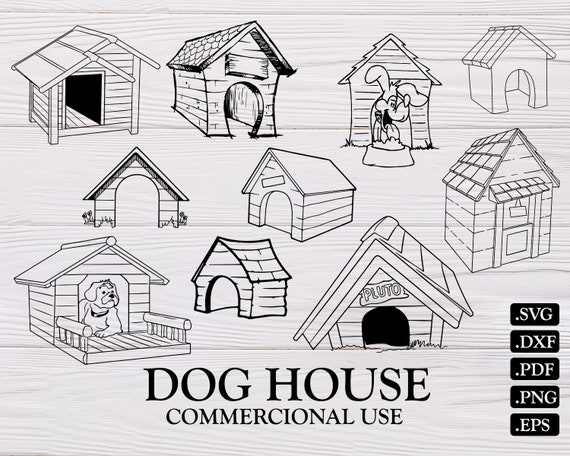 Dog House Svg Dog House Silhouette Svg Dog House Clipart Etsy