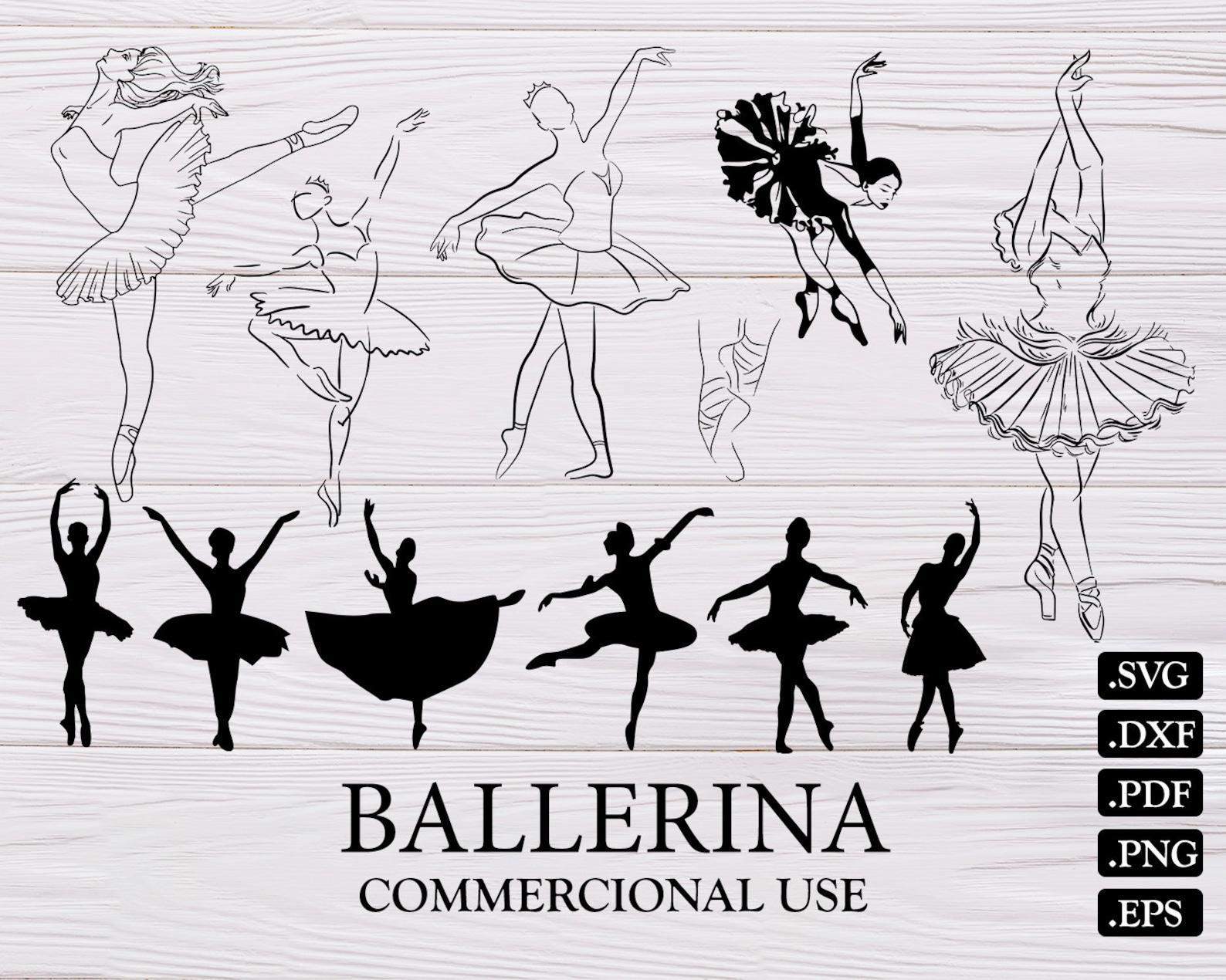 ballerina svg, ballet svg, dancer svg, dance svg, ballerina silhouette, ballerina clipart, ballerina cut file, ballerina svg fil