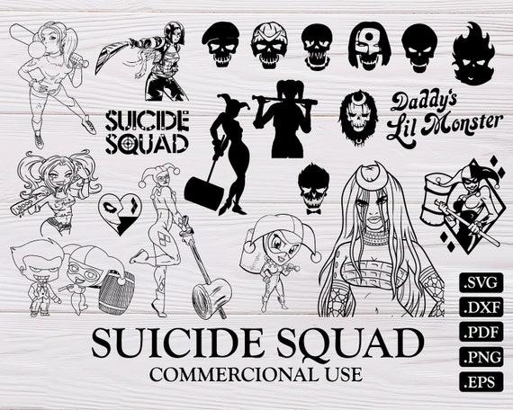 Suicide Squad Svg Joker Svg Suicide Squad Harley Quinn Svg Etsy
