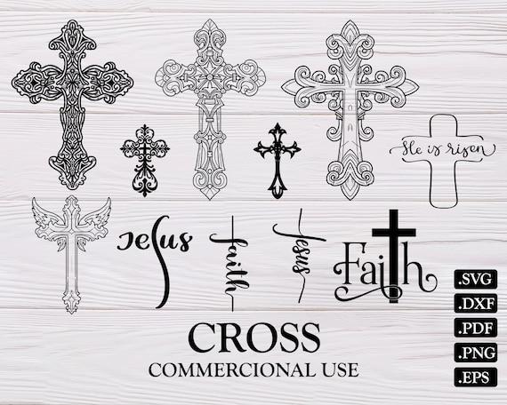 Cross Svg Cross Christian Svg Jesus Svg Religious Svg Etsy