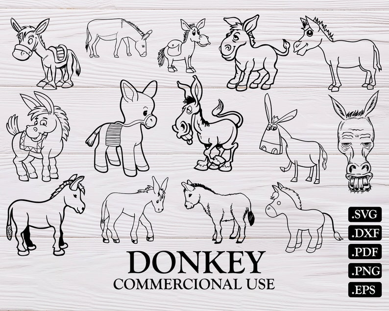 donkey svg farm svg donkey face svg donkey clipart animal