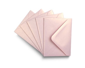 C5 Rose Gold Matte Envelopes for A5 Greetings Cards Luxury 110gsm