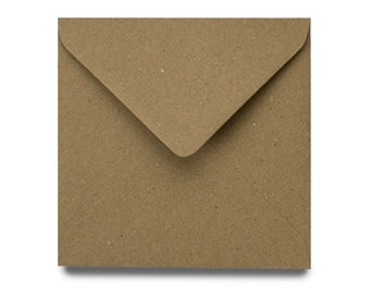 Brown Craft UK 2047 6 x 6 inch Kraft Card and Envelope pack of 50