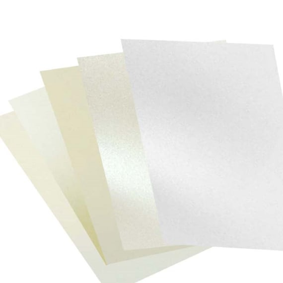 10 Sheets A4 Antique Silver Pearlescent Card 260gsm NEW