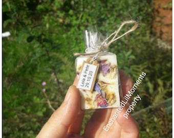 10-100 mini Soaps , Aphrodisiac blend, soap favours, Wedding favours , shower favours, Gift soap, Birthday gifts,  guest soap, Tags