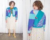 Vintage 80s Jacket 80s Jeanne Marc Quilted Cotton Jacket Medium M