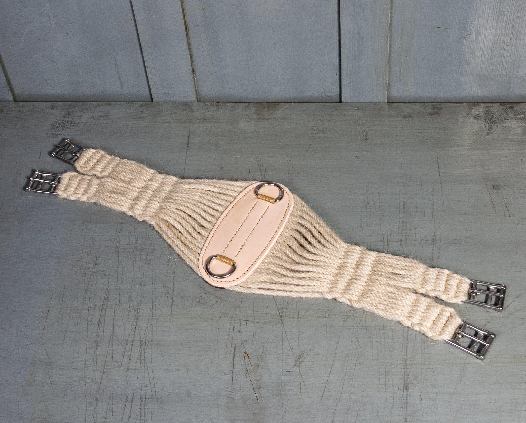 27 strand 100% mohair english roper cinch / girth