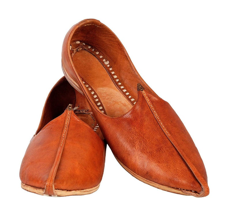 1ed969f44b183 Men's Jutti Jodhpuri Jutti Shoes Leather Brown Mojari Leather Handmade Pure  Mule Scuff Mojri