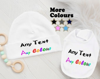 BABY SHOWER GIFT *MORE COLOURS* PERSONALISED BABY GIFT PERSONALISED BIB
