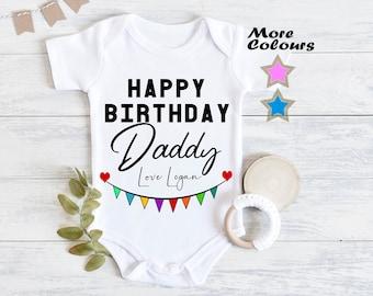 Happy 40th Birthday Daddy Baby Feeding Bib with Funny Heart Girl Boy Gift