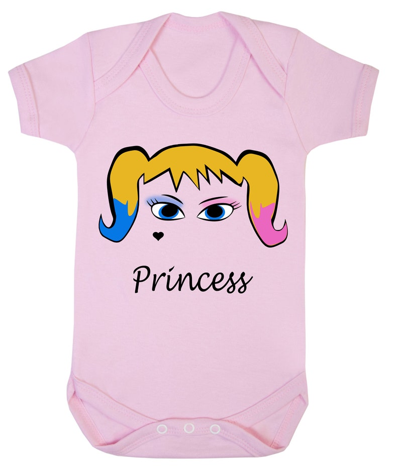 Harley Quinn Princess Joker Girl 0-24 Baby Shower Gift Funny Pink