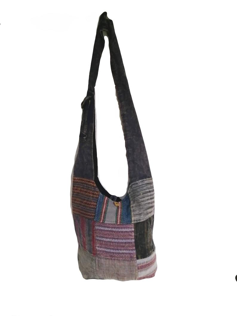 Fairtrade Jacard Cotton  Square Patchwork Baba Fish Bag
