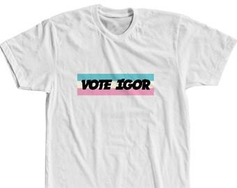 7a4f8a85bd28d Vote Igor Striped Box Logo Shirt Tyler The Creator Shirt Tyler The Creator  Merch Golf Wang T-Shirt Golf Shirt Odd Future Shirt OFWGKTA Shirt