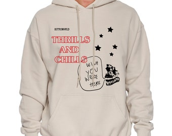 4941012d Thrills and Chills Hoodie / Astroworld Hoodie / Travis Scott Hoodie /  Astroworld Merch / Chills and Trills Hoodie / Astroworld Tour Merch