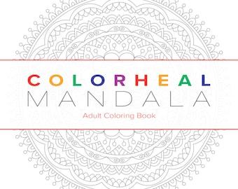 MANDALA Adult Coloring Book 1