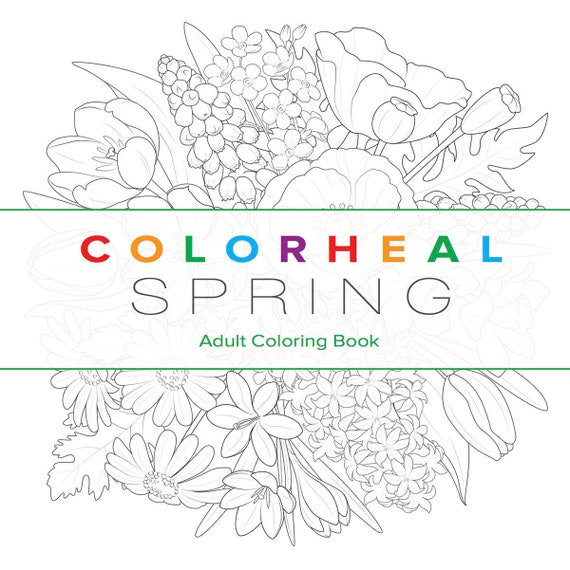 SPRING Coloring Book Etsy