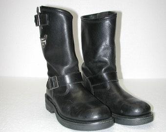 fc4f4f10e84 HARLEY DAVIDSON Men s Black Leather Motorcycle Biker Boots Size 9