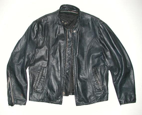 Vintage Cafe Racer Men's Black Leather Motorcycle