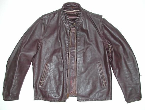 Vintage Brown Cafe Racer Men's Leather Motorcycle