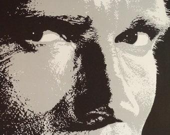 The Running Man-Original Vintage Poster of Stephen Kings Sci-Fi Gameshow Thriller with Arnold Schwarzenegger Yaphet Kotto and Richard Dawson