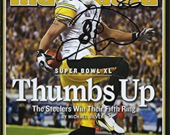 daad9dfabf2 Hines Ward Sports Illustrated Autograph Replica Super Print - Thumbs Up - 2 /13/2006