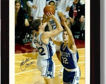 48121fe744b3 Framed Christian Laettner Autograph Replica Print - Duke Blue Devils 8x10  Print