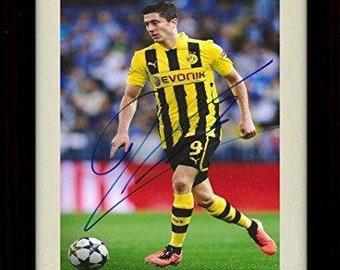 55467188d55 Framed Robert Lewandowski Autograph Replica Print - Team Poland World Cup  8x10 Print