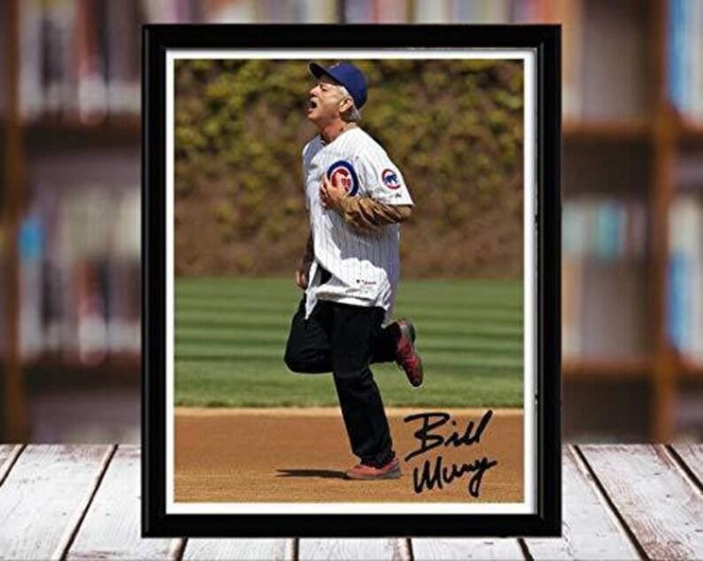 Running The Bases Bill Murray Autograph Replica Print Portrait Desktop Frame