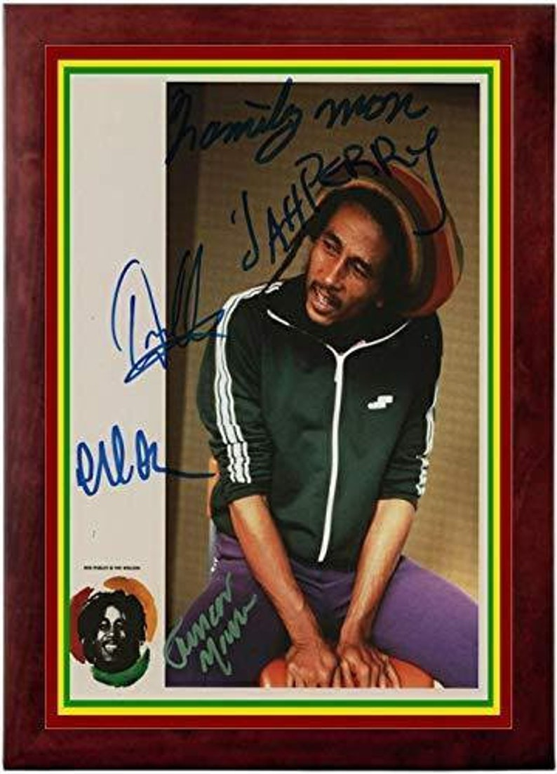 Portrait Bob Marley Autograph Replica Super Print