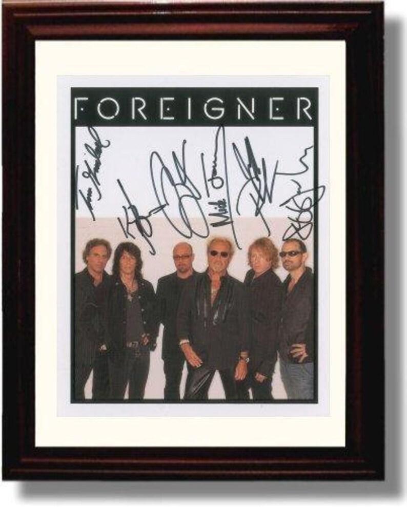 Framed Foreigner Autograph Replica Print 8x10 Print