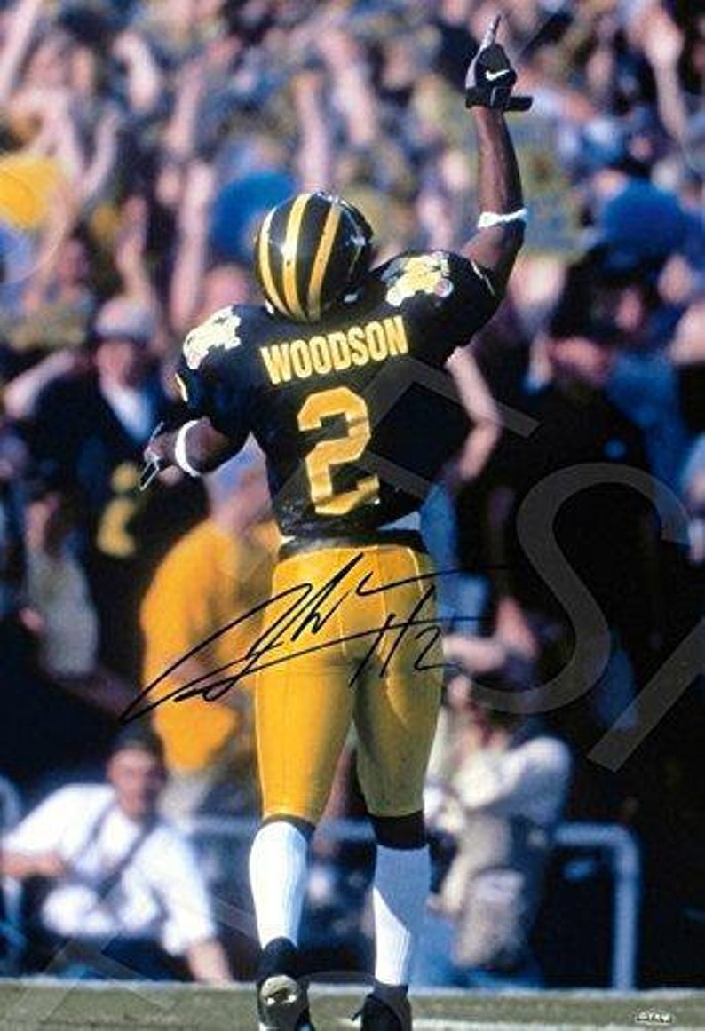 detailed look 5d23d 99ca1 Charles Woodson Autograph Replica Poster Print - Michigan Wolverines