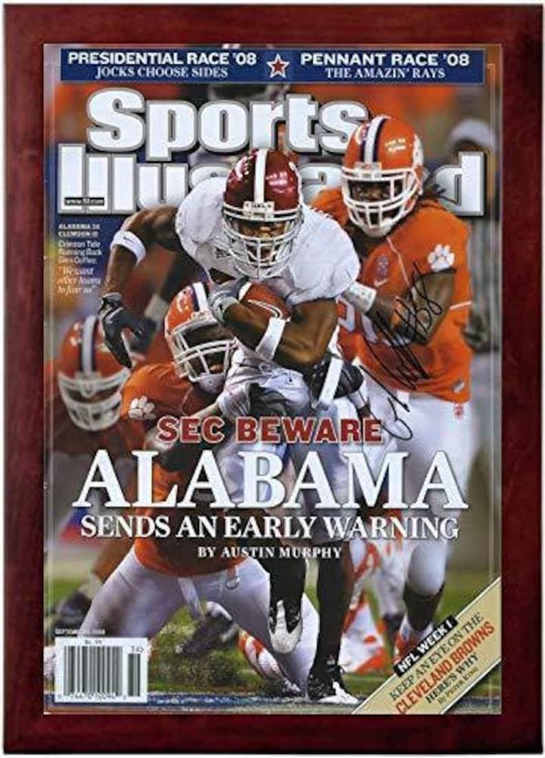 Alabama Crimson Tide Beware Glen Coffee Sports Illustrated Autograph Replica Super Print