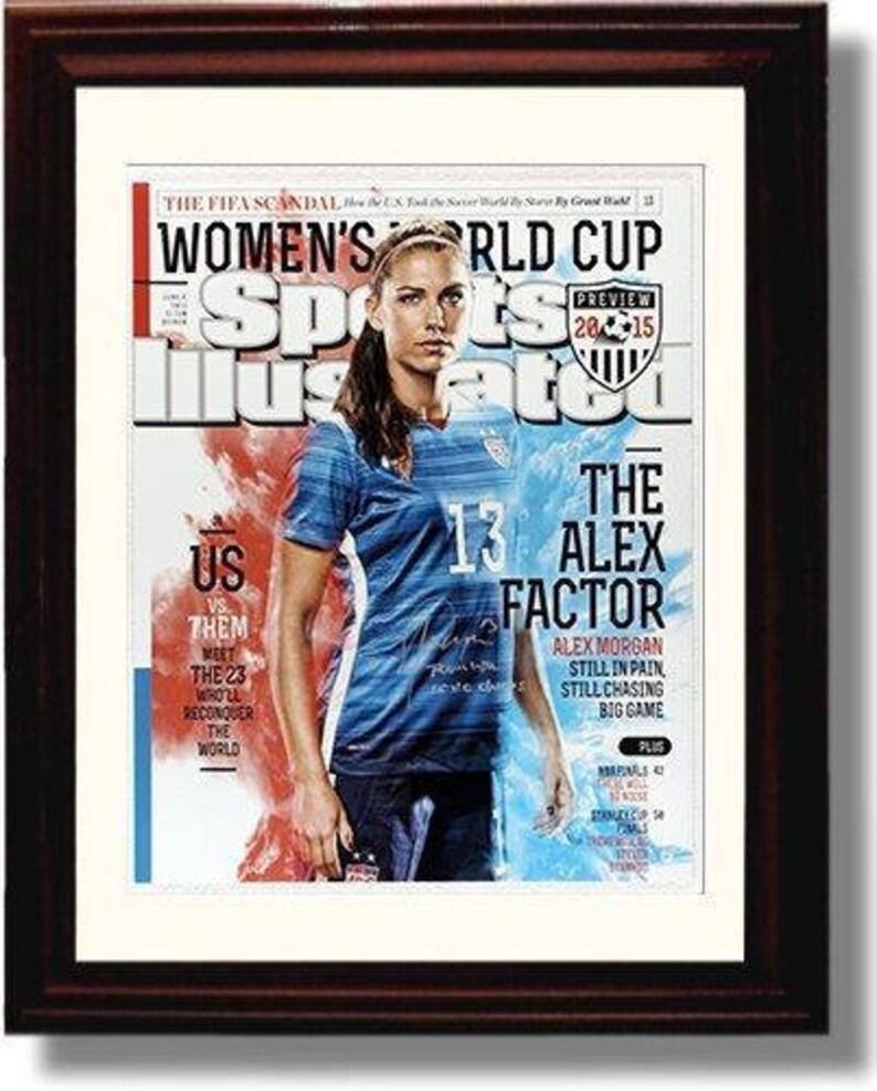 Framed Alex Morgan Autograph Replica Print SI 8x10 Print