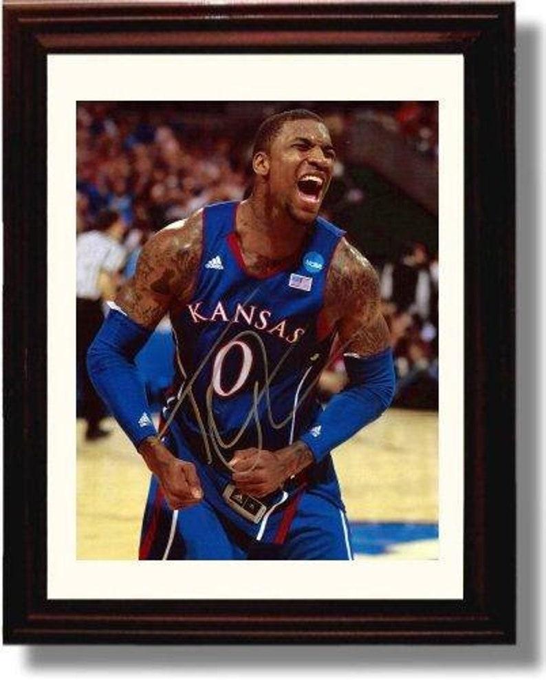 Framed Thomas Robinson Autograph Replica Print Alley-Oop 8x10 Print Kansas Jayhawks