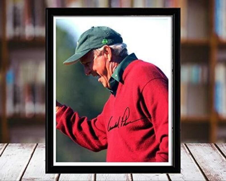 Portrait 8x10 Desktop Framed Print Arnold Palmer Autograph Replica Print Red Jacket