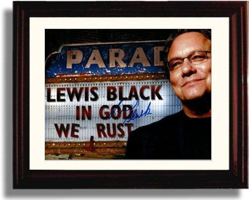 Framed Louis Black Autograph Replica Print Landscape 8x10 Print