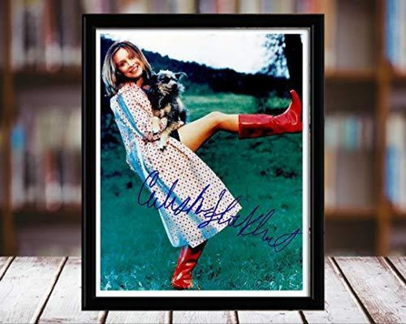 Portrait Desktop Frame Calista Flockhart Autograph Replica Print