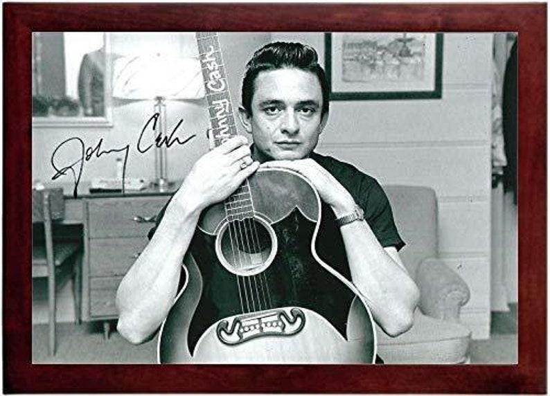 Landscape Johnny Cash Autograph Replica Super Print