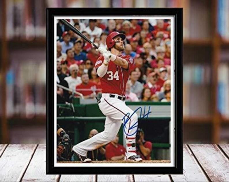 Desktop Frame Bryce Harper Autograph Replica Print Portrait Connects
