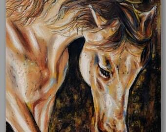 """Golden Horse Print 16x20"""""""