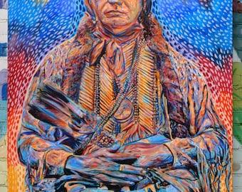 Last Kiowa Chief Print